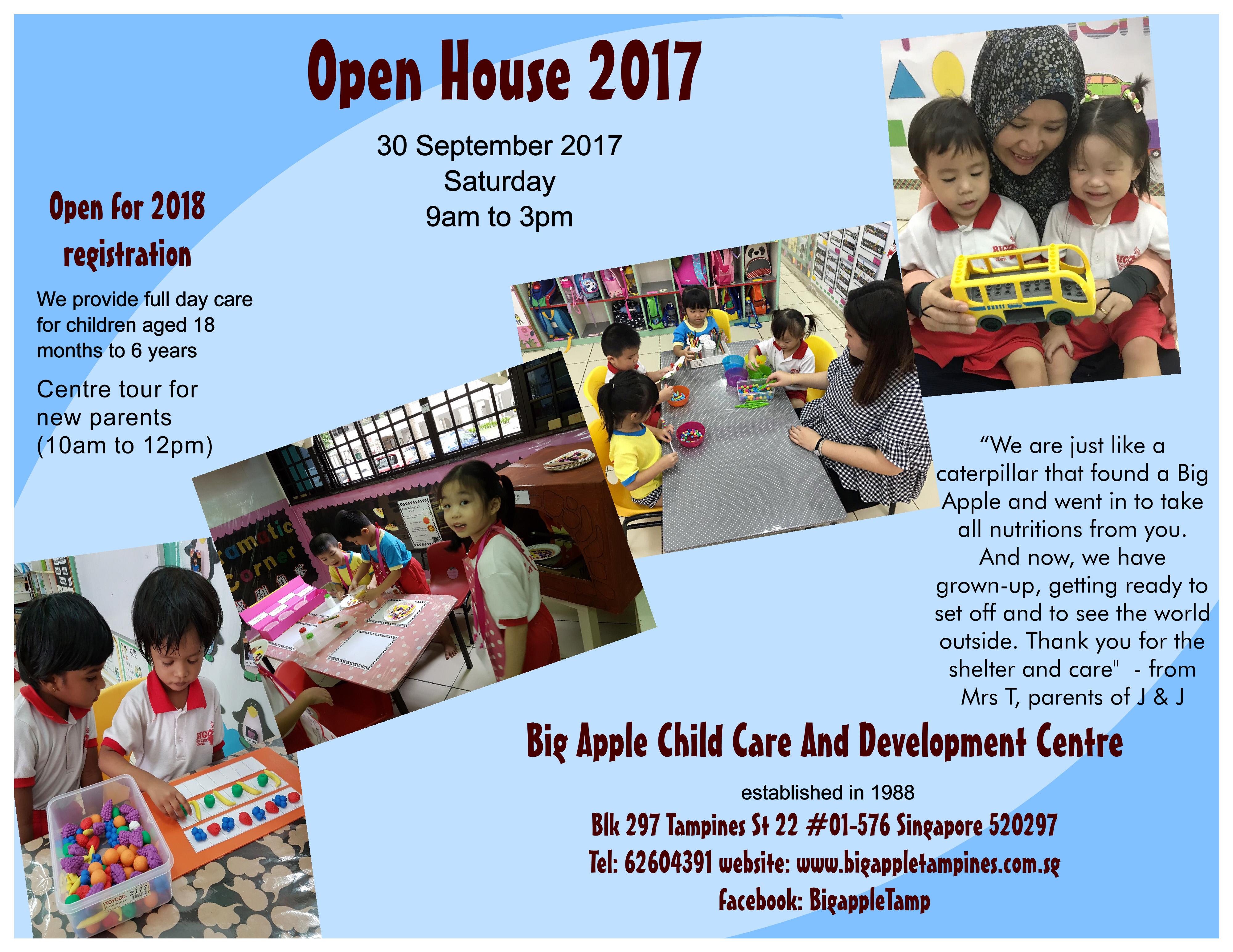 Preschool Singapore Open House